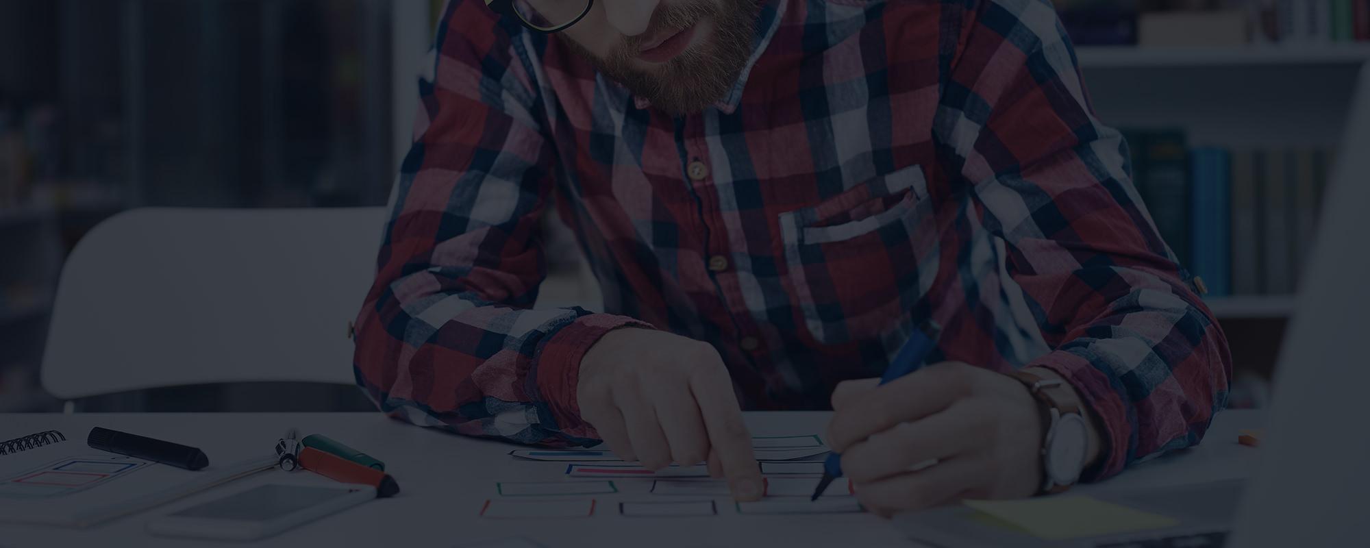 Website design being created
