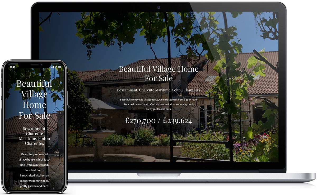 New desktop and mobile website design for the house in France