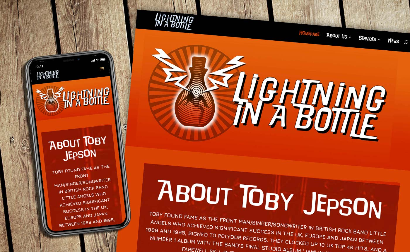 New mobile and desktop website design for Lightning in a Bottle