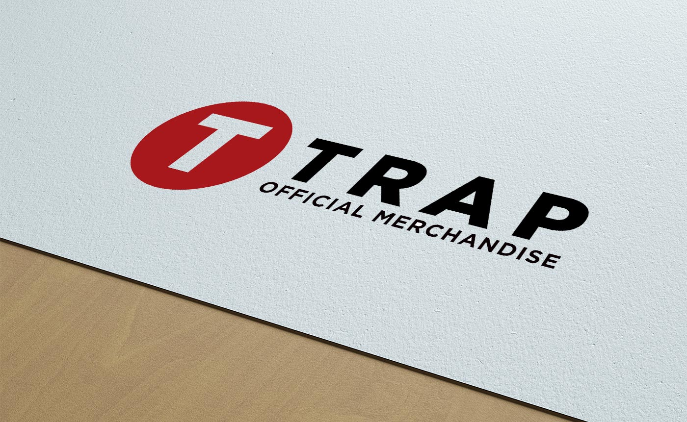 This example of branding, for merchandise company Trap, was designed and created by 77 Rockets