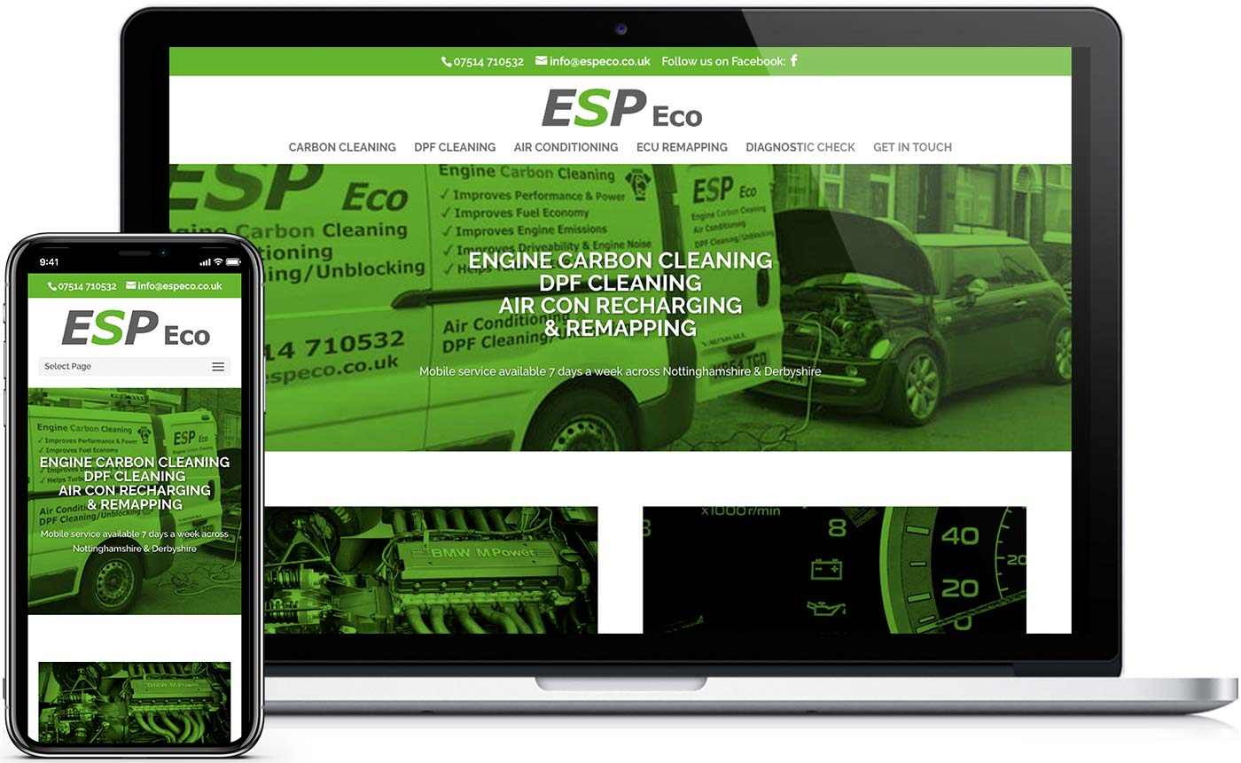 Web design for ESP Eco website