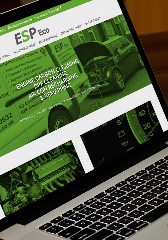 ESP Eco's new desktop website design