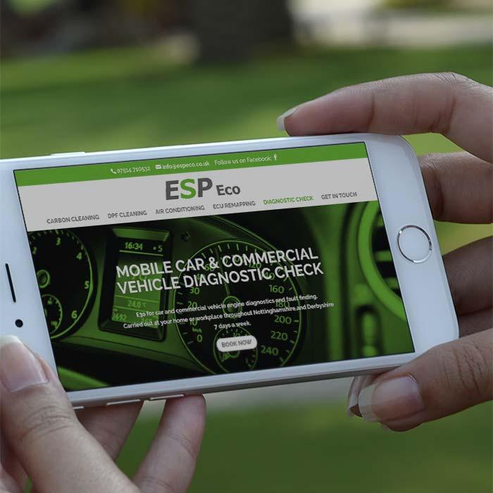 ESP Eco's new mobile website design