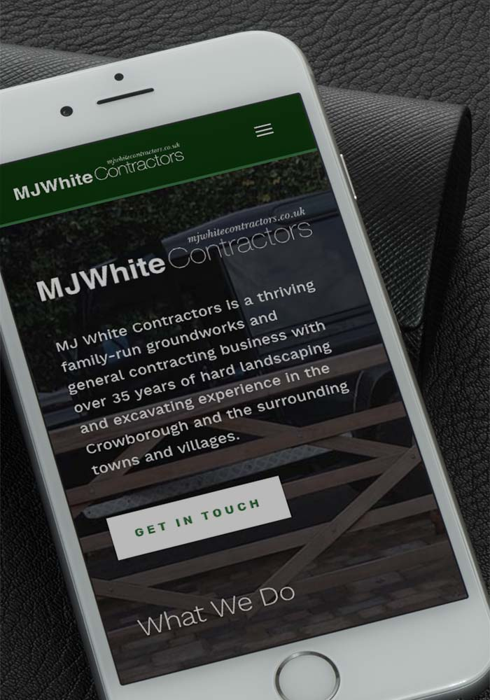 Mobile version of the client's new web design