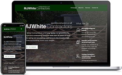 Web design for MJ White Contractors