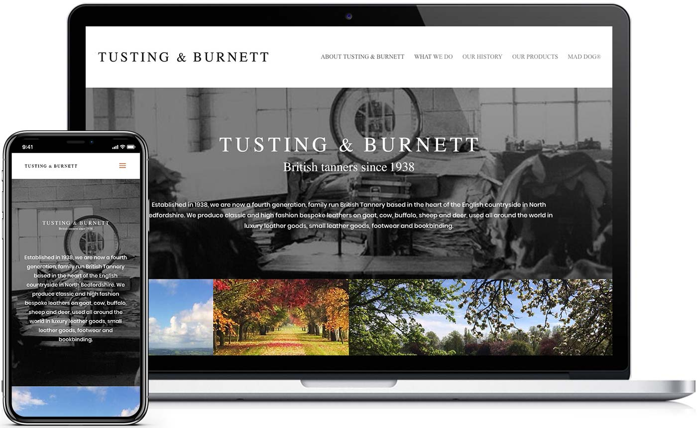New desktop and mobile website design for Smith & Green