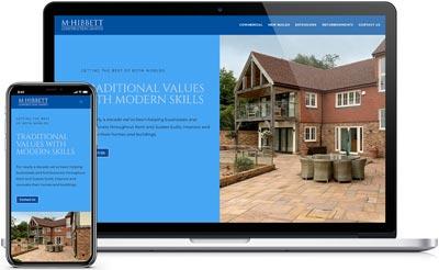 M Hibbert Construction Website