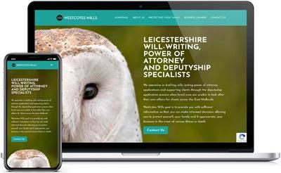 Westcotes Wills Website and Branding