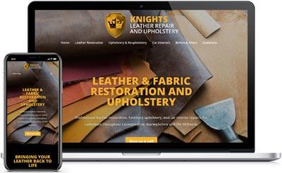 Knights Leather Repair Website