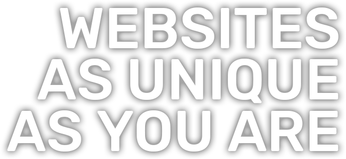 Web design as unique as you are