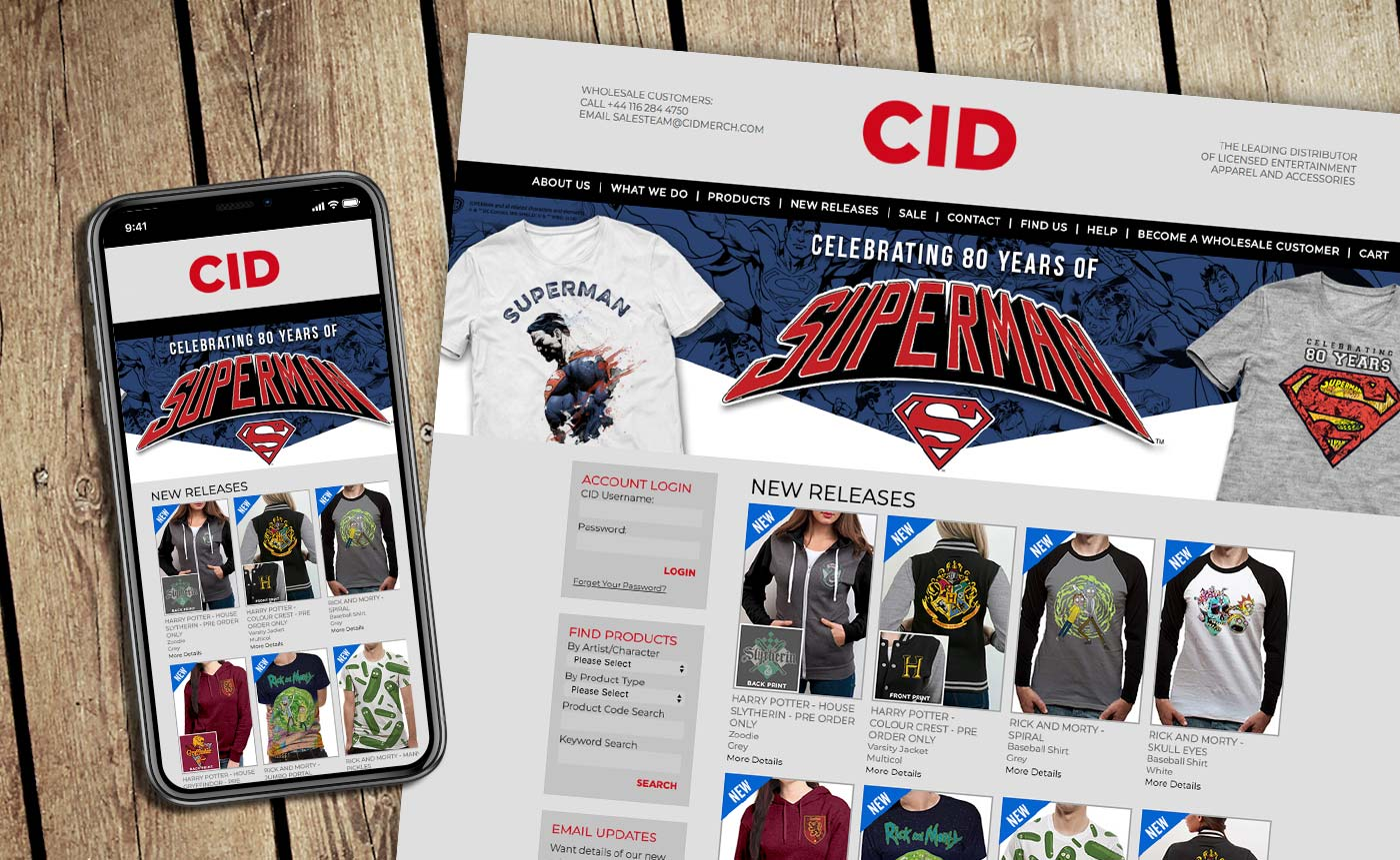 Mobile online store ecommerce design for CID